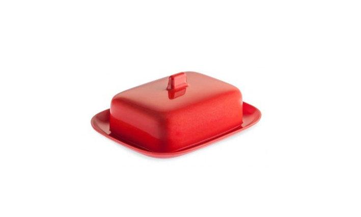 BUTTER DISH - Red Melamine