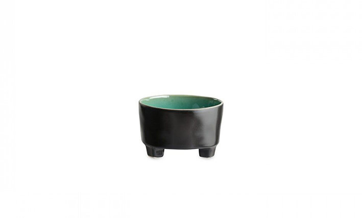 RIVIERA - Footed Fruit Bowl Azur