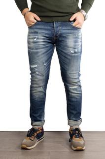 Jeans scuro con strappi chiusi €25