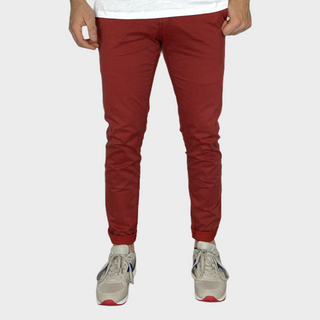 Pantalone slim microfantasia mattone €20