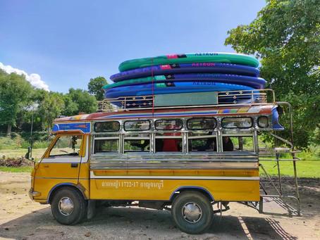 พาย SUP board เส้นทางหนองหอย-วังด้ง กาญจนบุรี โดยเพจ การเดินทางของ P9