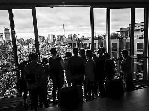 WSMS middle schoolers took in the view o