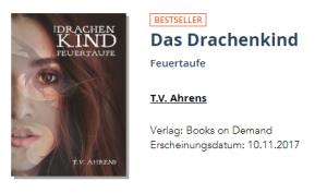 Das Drachenkind bekommt den BoD Bestseller-Button