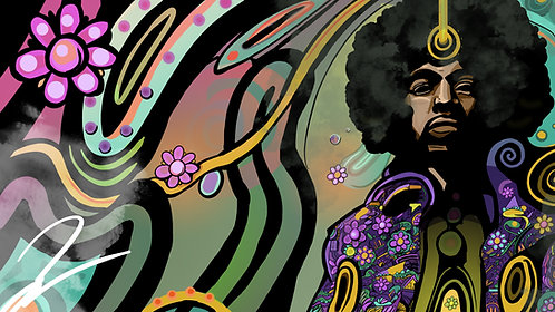 EDITION OF 25: Jimi Hendrix 13x19 Matte Print