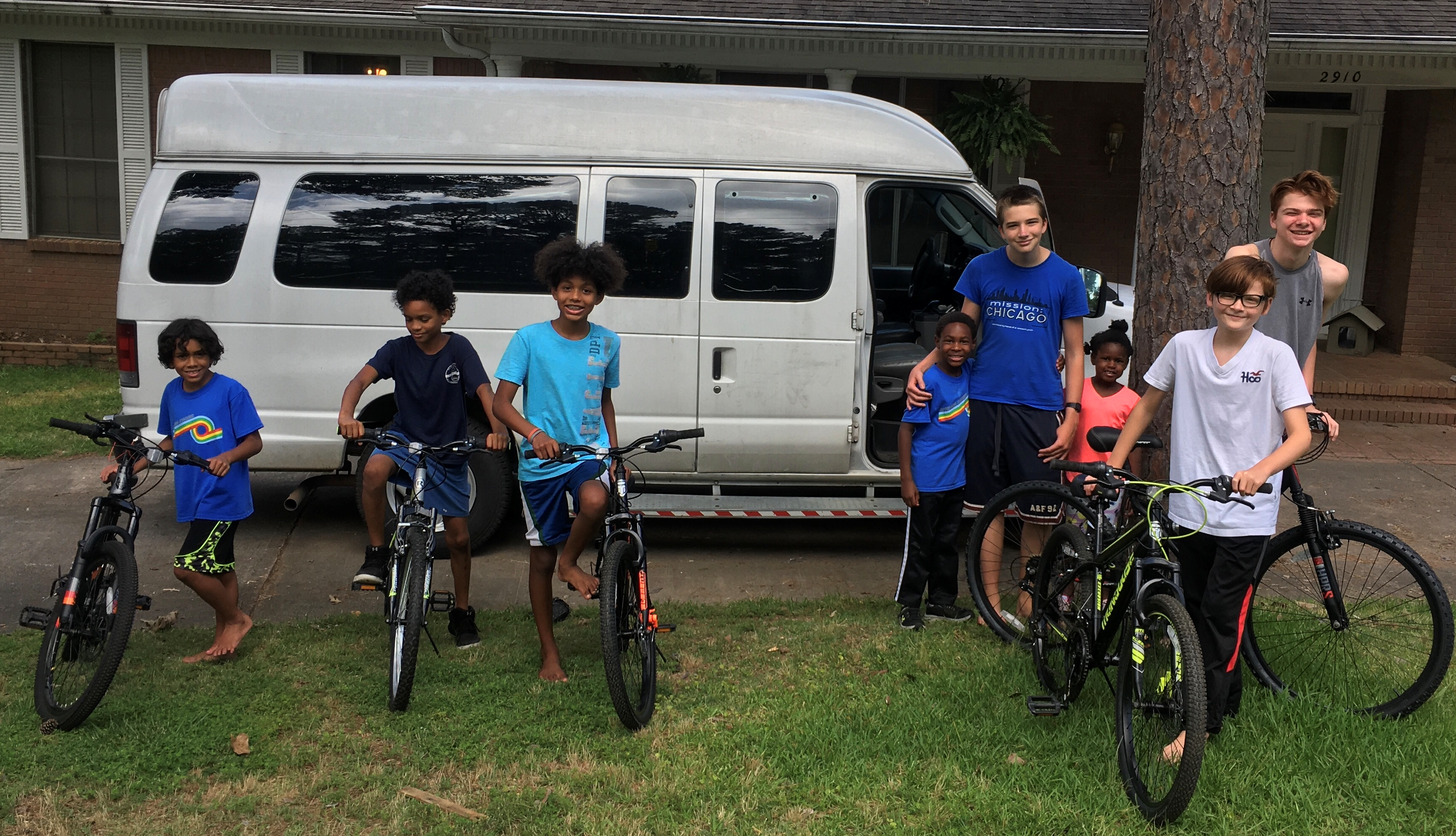 Bikes for a foster family