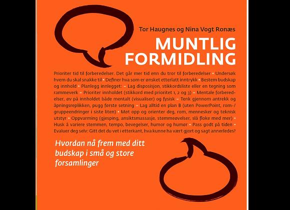 MUNTLIG FORMIDLING