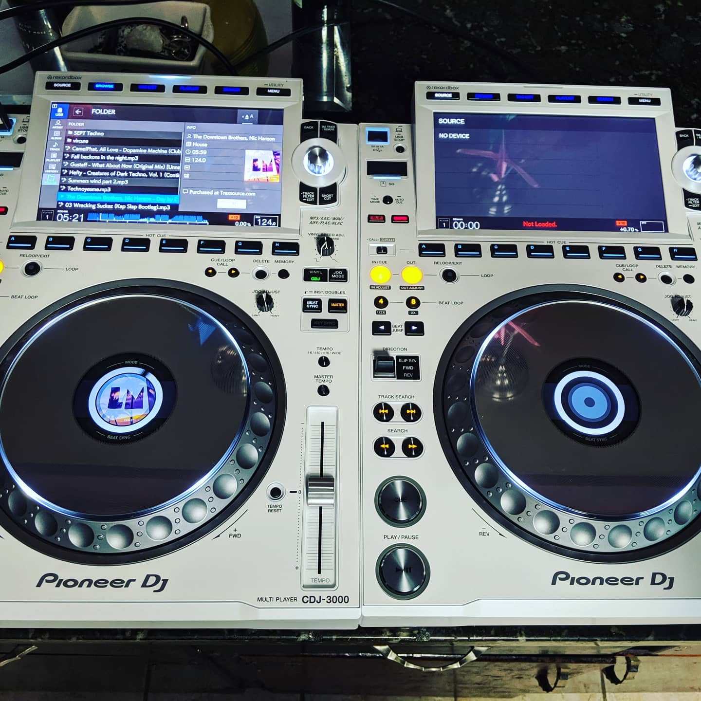 We got the New pioneer cdj3000s in white