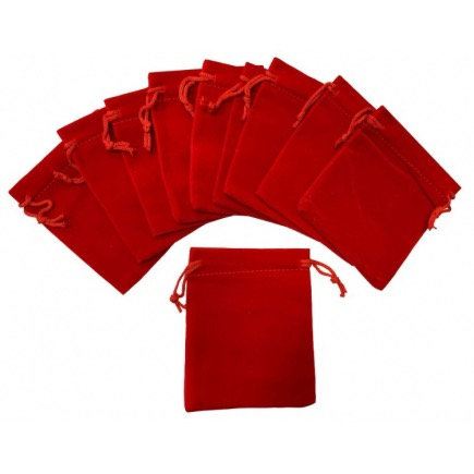 Red Velvet Pouch X 3 Pieces