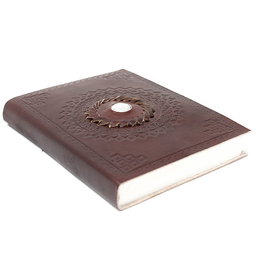 "Leather Moonstone Notebook (7x5"")"