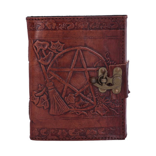 Nemesis Now Lockable Pentagram Leather Emboss Journal