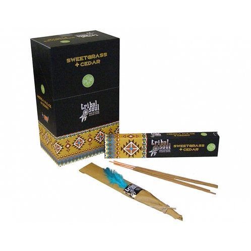 Tribal Soul Sweet Grass and Cedar Incense Sticks - Box of 12