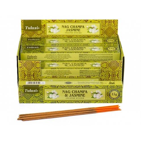 Tulasi Jasmine Nag Champa Incense Sticks