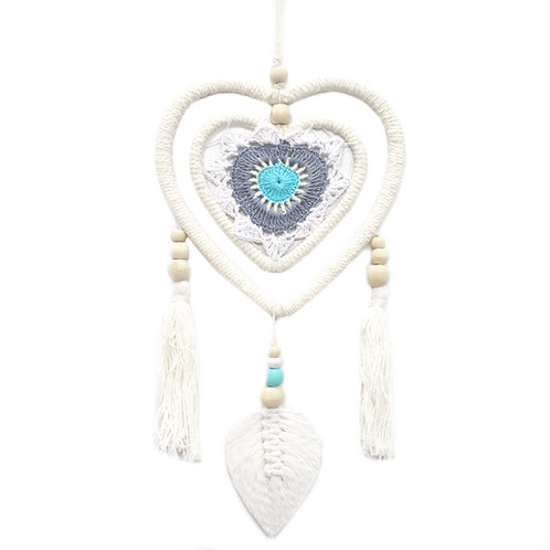 Dream Catcher - Medium Blue Heart in Heart