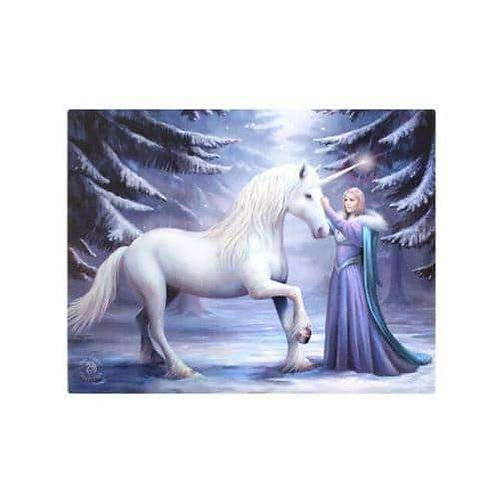 """Stunning Anne Stokes """"Pure Magic"""" Canvas Wall Plaque"""
