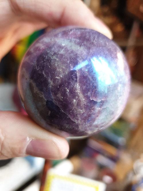 Aura Lepidolite Sphere 47mm