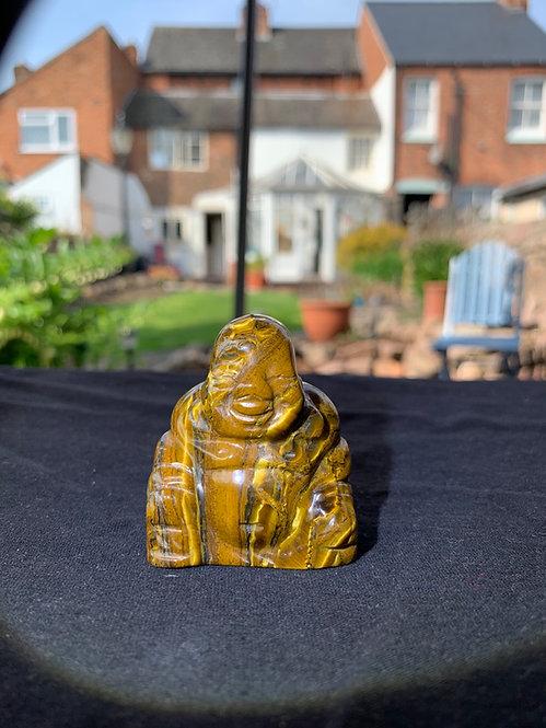 Tigers Eye Carved Buddha