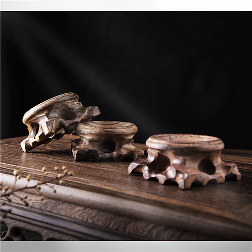 Carved Wooden Stand For Crystal Spheres