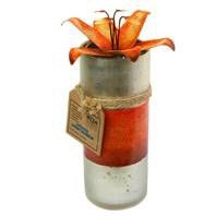 Candle Tall 15cm Lily Orange