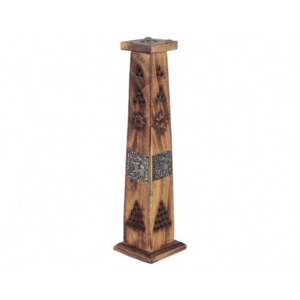 Mango Wood Tower Incense Burner