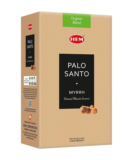 HEM Organic Blend Palo Santo & Myrrh Incense Sticks