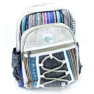 Handmade Hemp and Cotton Backpack Small