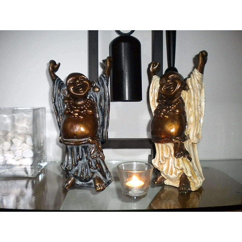 Stretching Happy & Lucky Resin Buddha Statue