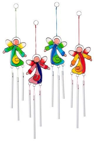 Angel Suncatcher with Mini Chimes