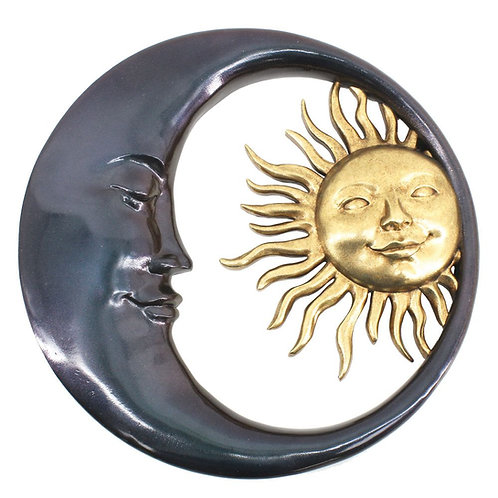 Celestial Bodies Sun and Moon Wall Plaque 41.2cm