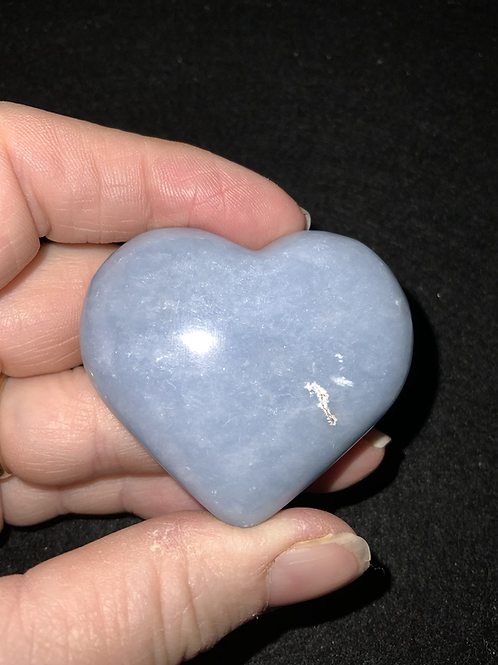 Angelite Polished Heart