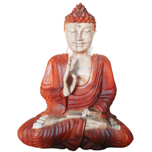 "Hand Carved Buddha Statue - 30cm ""Teaching Transmission"""