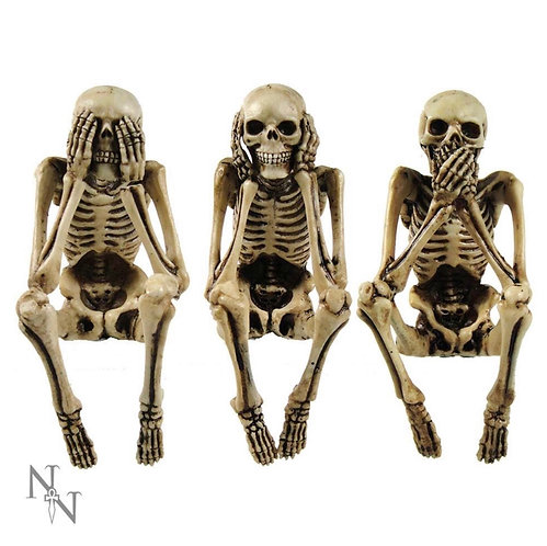 Three Wise Skeltons 10cm ornament