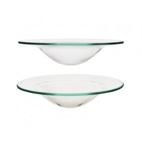 Glass Oil Burner Dish - 12cm  Replacement