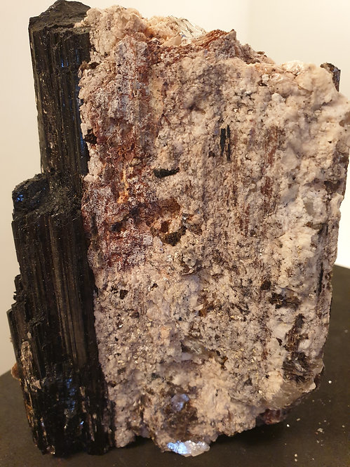 Black Tourmaline With Mica / Muscavite : 140mm High 1100g