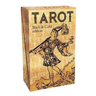 TAROT - BLACK AND GOLD EDITION: 78 Cards With Gold Foil Impressions & Instructio