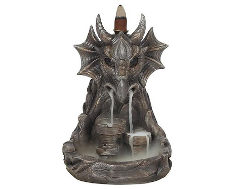 Grey Dragon Backflow Incense Burner