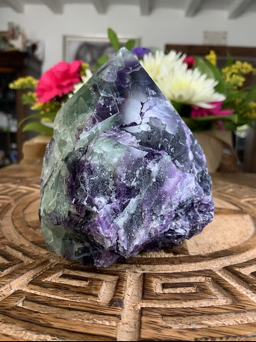 Rainbow Fluorite Half Polished Point