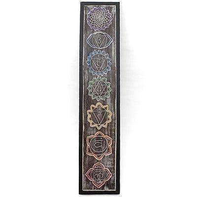 Beautiful Hand Made Long Meditation Chakra Plaque