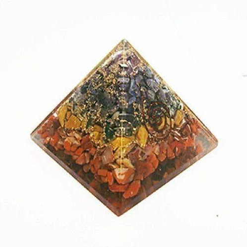 Orgonite Pyramid Chakra: Cleanse Negative Energy Free UK Delivery