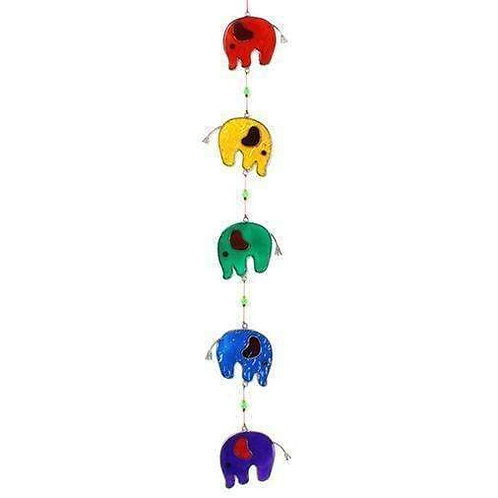 String of Elephants Fairtrade Suncatcher