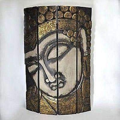Stunning Buddha Head Room Divider Or Wall Hanging. 115cm X 80cm