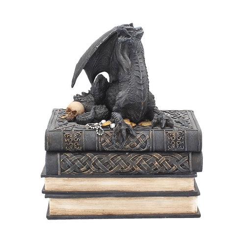 Secrets of the Dragon Box Gothic Skull Books Trinket Box 19cm