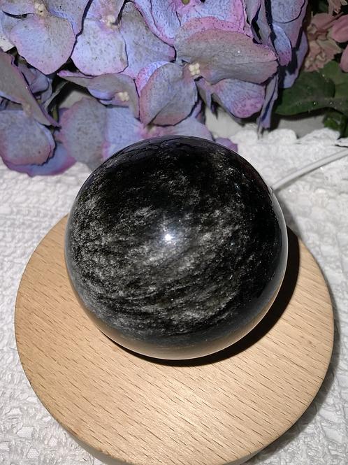 Silver Sheen Obsidian Sphere 69.6mm