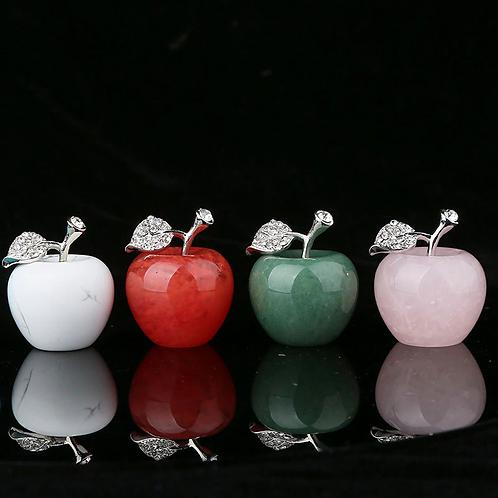 Gemstone Apple with Zirconia Inlay. 25mm