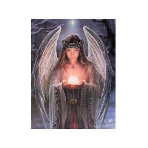 """Anne Stokes """"Yule Angel"""" Wall Plaque"""