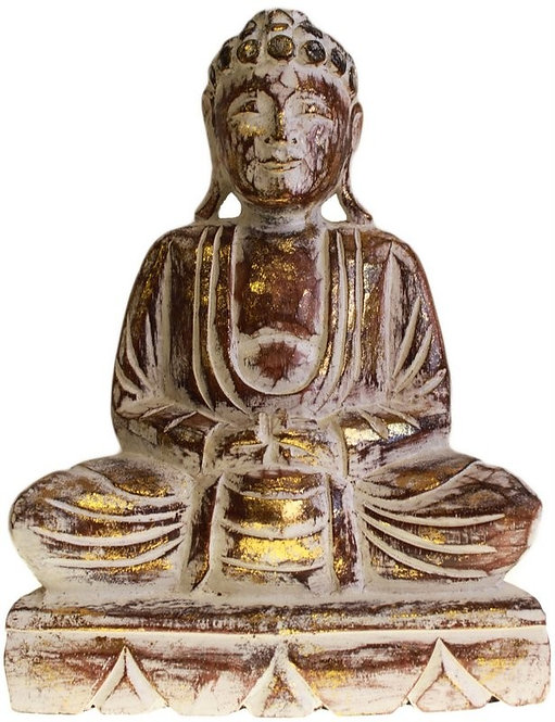 Carved Wooden - Buddha Statue - Choose Size