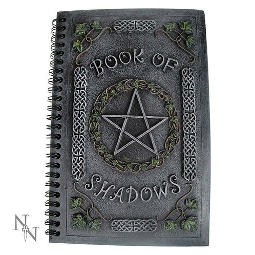 Ivy Book Of Shadows Journal With Pentagram Resin Cover (22cm)