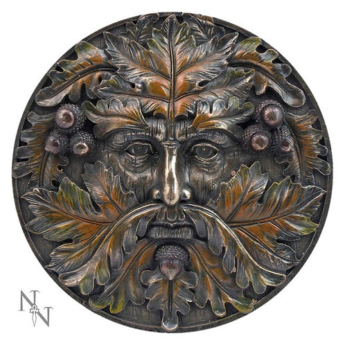 Bronzed Autumn Equinox Tree Spirit Wall Plaque 14.5cm