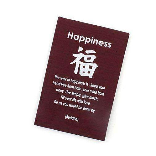 Handmade Fabric Bound HAPPINESS Affirmation Notebook: Perfect For Your Thoughts