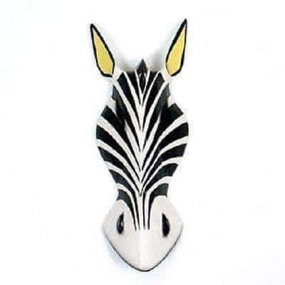 Decorative Zebra Mask - 30cm
