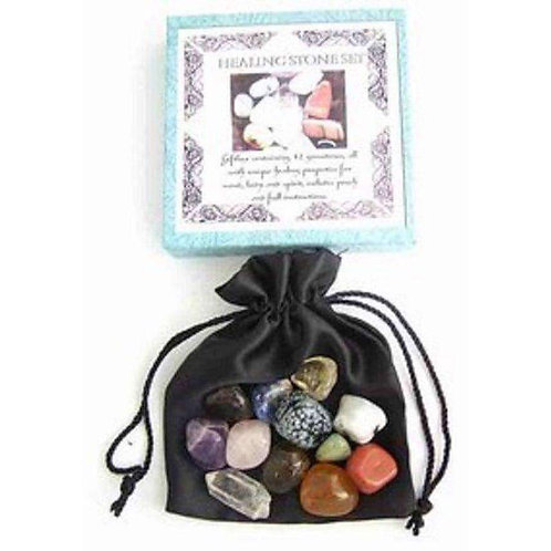 Natural Healing Stones Box Set: Includes Pouch